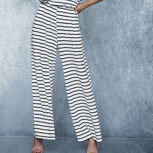 BiBi Pants & Jumpsuits - Stripe Knit Sleeveless Jumpsuit
